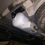 Propane Tank Behind Axel Installed