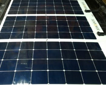 Sunpower flexible solar panel on Promaster 3 panels